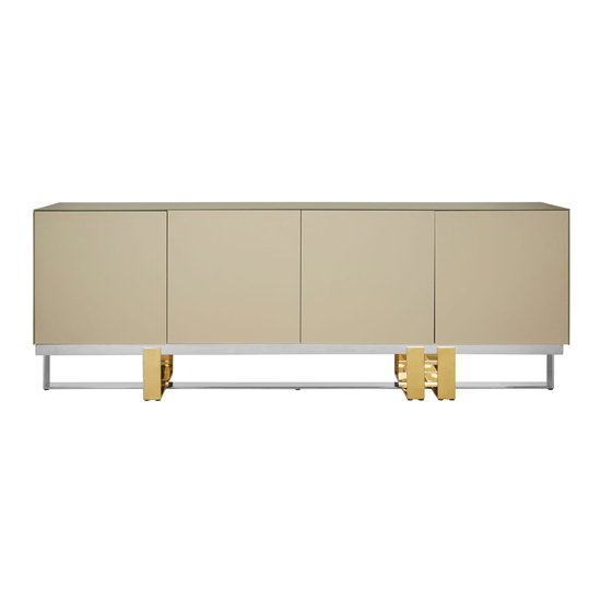 Cervantes Wooden Sideboard With Golden And Silver Base
