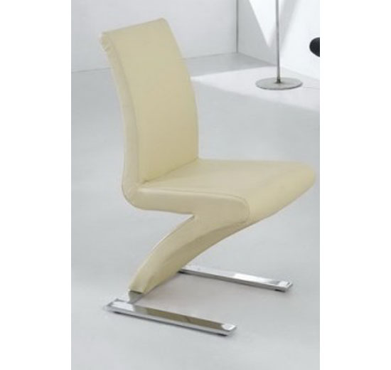 Demi Z Dining Room Chair in Cream 13716 Furniture in