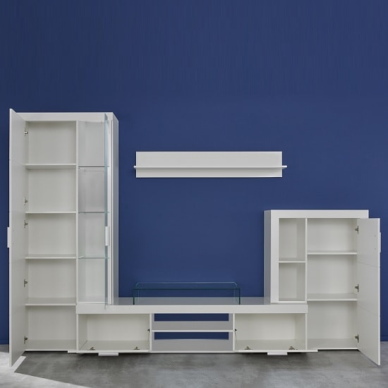 Roma Living Room Set In White With High Gloss Fronts And LED_2