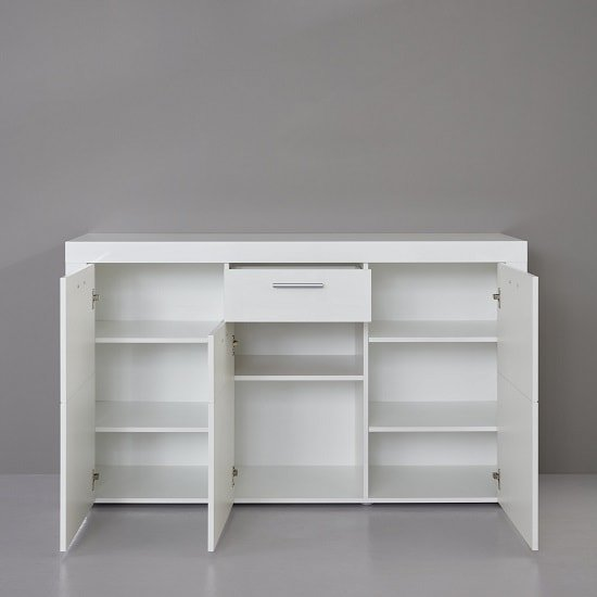 Roma Sideboard In White With High Gloss Fronts_2