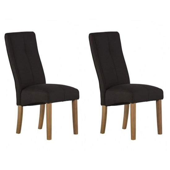 Denver Black Fabric Dining Chair In A Pair