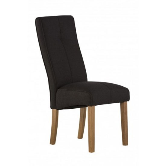Denver Fabric Dining Chair In Black