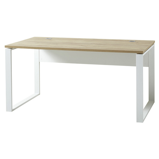 Derrick Laptop Desk In White And Navarra Oak_1