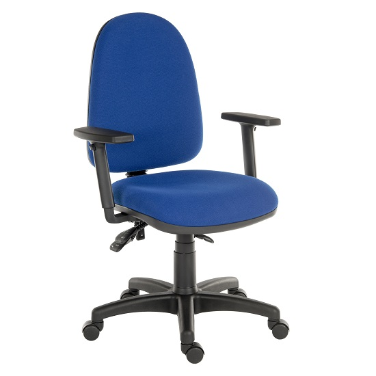 Dessau High Back Operator Chair With Three Lever Mechanism