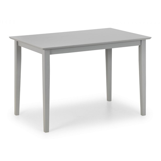 Devanna Wooden Compact Dining Table In Grey Lacquer
