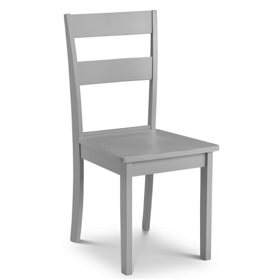 Devanna Wooden Dining Chair In Grey Lacquer Finish