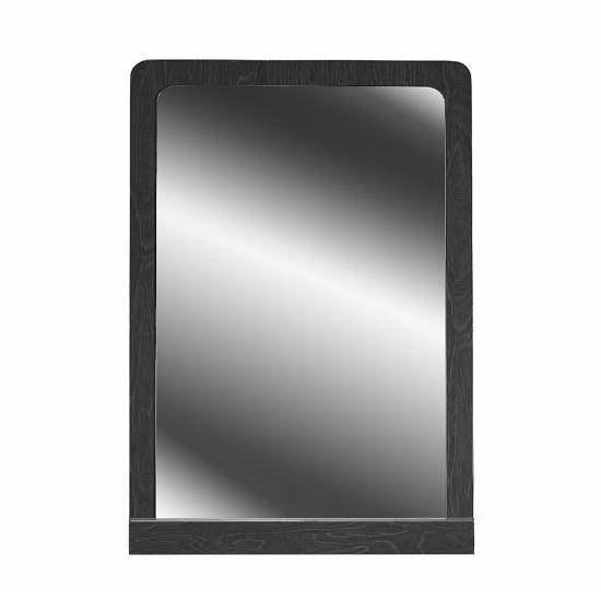 Devito Wooden Dressing Mirror In Grey Gloss Grain Effect Frame_2