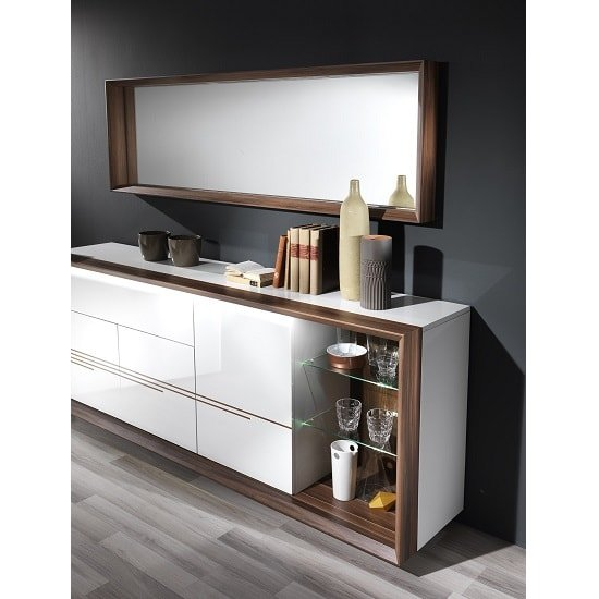 Devon Wooden Sideboard In White High Gloss With LED Lighting_3