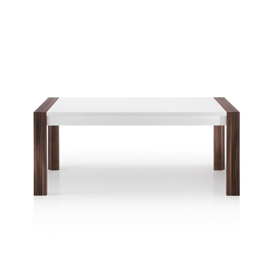 Devon Wooden Dining Table Rectangular In White High Gloss_2