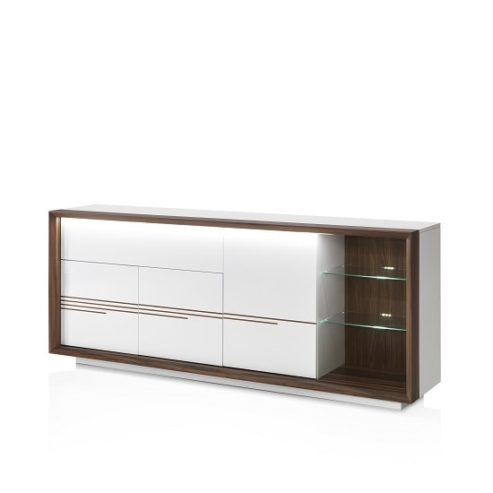 Devon Wooden Sideboard In White High Gloss With LED Lighting_4