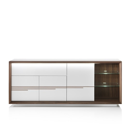Devon Wooden Sideboard In White High Gloss With LED Lighting_5