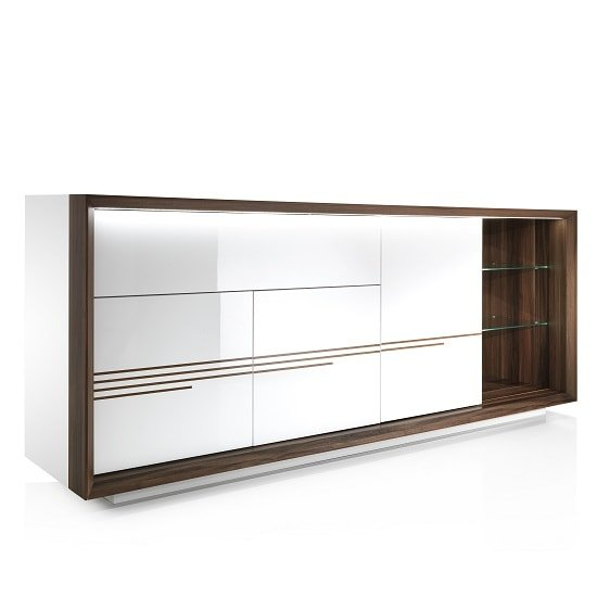 Devon Wooden Sideboard In White High Gloss With LED Lighting_6