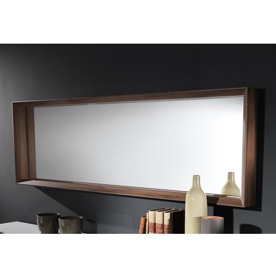 Devon Contemporary Wooden Rectangular Wall Mirror