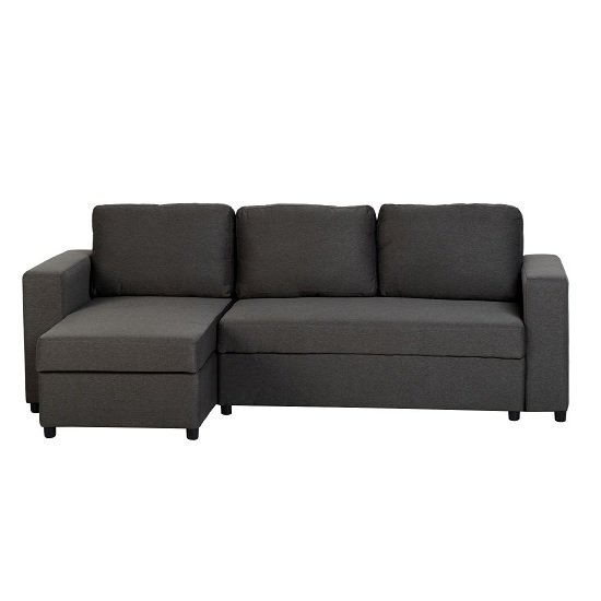 Dexter Corner Sofa Bed In Dark Grey Fabric With Storage_3