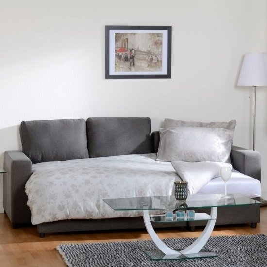 Dexter Corner Sofa Bed In Dark Grey Fabric With Storage_2