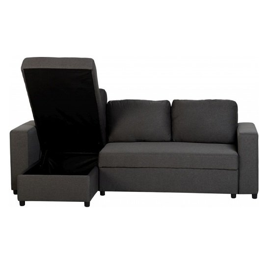 Dexter Corner Sofa Bed In Dark Grey Fabric With Storage_5