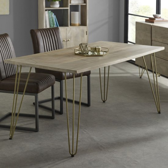 Dhort Wooden Dining Table In Natural