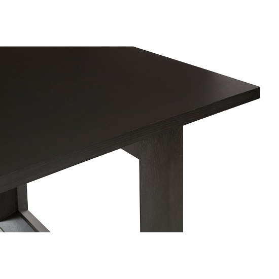 Chalawan Rubberwood Dining Table In Black      _5