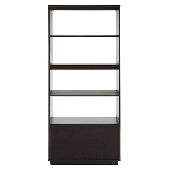 Chalawan Rubberwood Shelf Unit In Black      _3