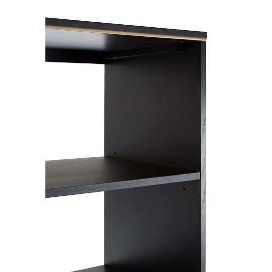 Chalawan Rubberwood Shelf Unit In Black      _5