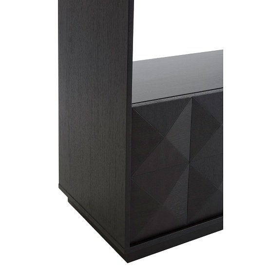 Chalawan Rubberwood Shelf Unit In Black      _6