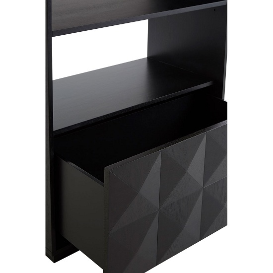 Chalawan Rubberwood Shelf Unit In Black      _7