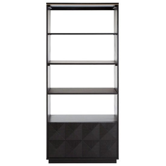 Chalawan Rubberwood Shelf Unit In Black