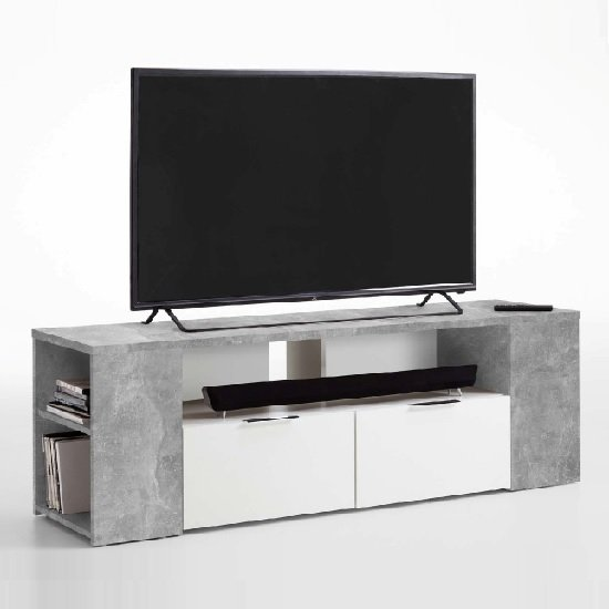 Diana TV Stand In Light Atelier And White With 2 Drawers
