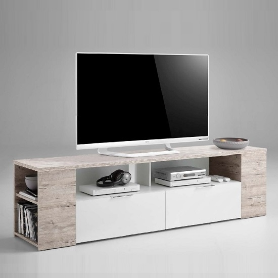 Read more about Diana tv stand in sand oak and white with 2 drawers