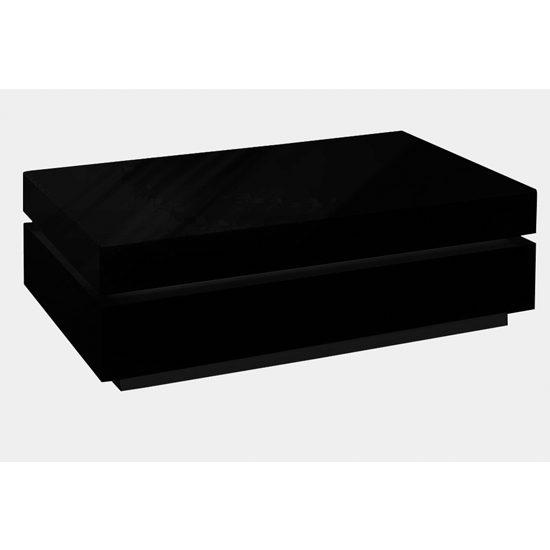 Dibble Wooden Coffee Table In Black