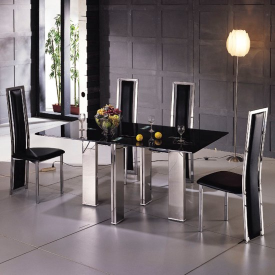 dining sets room furniture tetrisD231 - 6 Benefits Of Buying Black Glass Extending Tables London