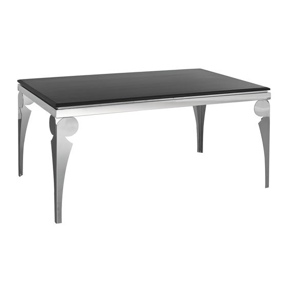 Black marble dining table with stainless steel legs 163729  : dining table 2402460 from www.go-furniture.co.uk size 550 x 550 jpeg 16kB