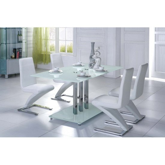 Glass Dining Tables And 6 Chairs, Furnitureinfashion UK