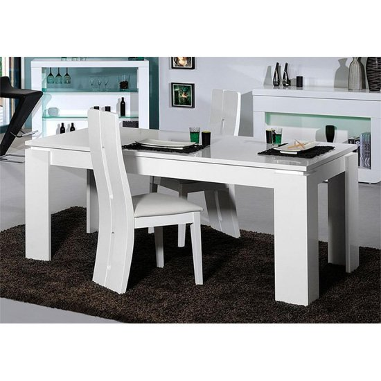 Fiesta High Gloss 4 Seater Dining Table And Chairs