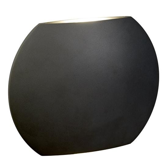 Led Outdoor Disc Lights: Disc Outdoor LED Light Wall Bracket In Dark Grey 32998