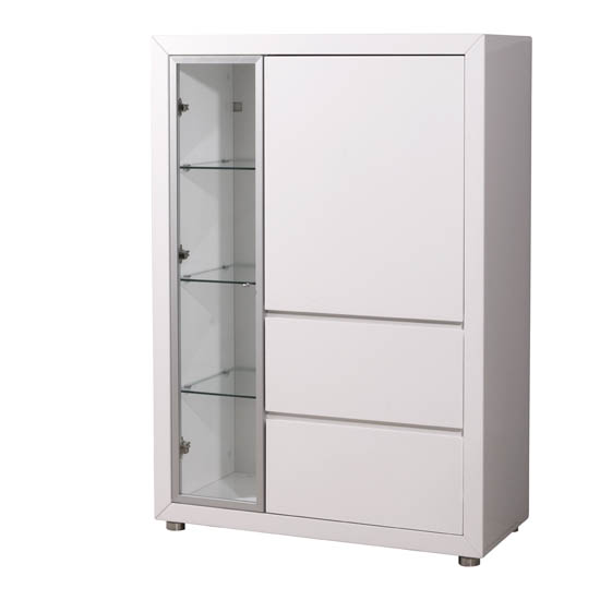 Fino Gloss White 2 Door Entertainment Cabinet