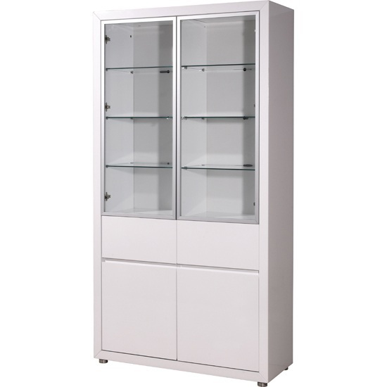 Fino High Gloss Tall Display Cabinet White 18417 Furniture I : display cabinet 2176 84 from www.furnitureinfashion.net size 550 x 550 jpeg 75kB