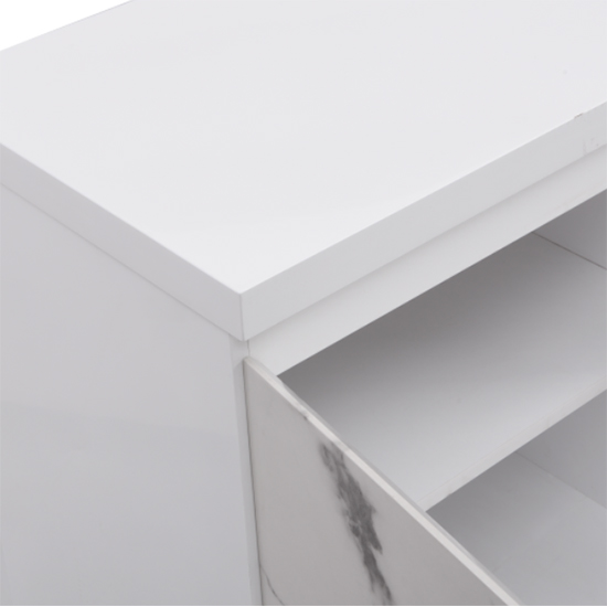 Diva Large White Gloss Sideboard With 3 Drawers And 2 Doors_11