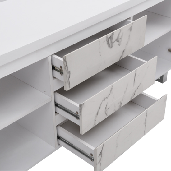 Diva Large White Gloss Sideboard With 3 Drawers And 2 Doors_9