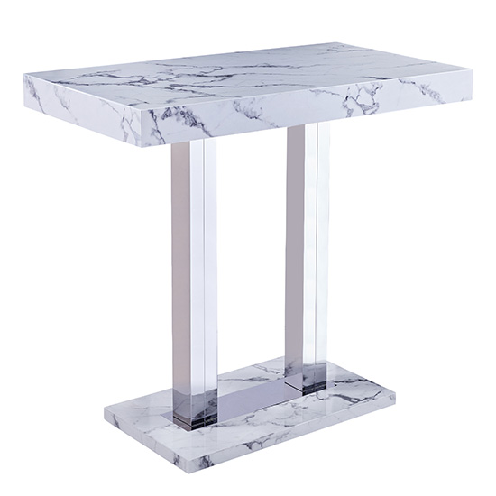 Diva Rectangular Bar Table In Gloss Marble Effect_2