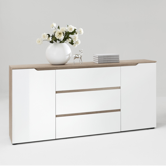 Diva1 buffet sideboard in gloss white oak for Furniture in fashion