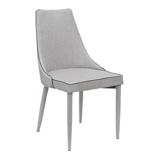 Divina Fabric Upholstered Dining Chair In Grey