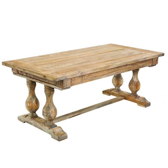 Dixon Wooden Rectangular Dining Table In Natural