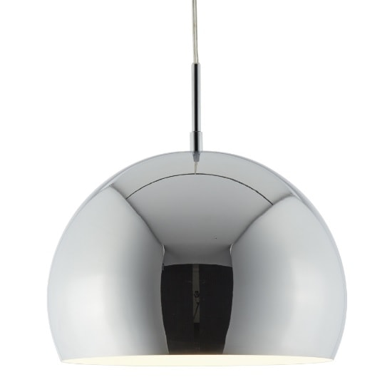 Domas 1 Light 30cm Pendant In Chrome