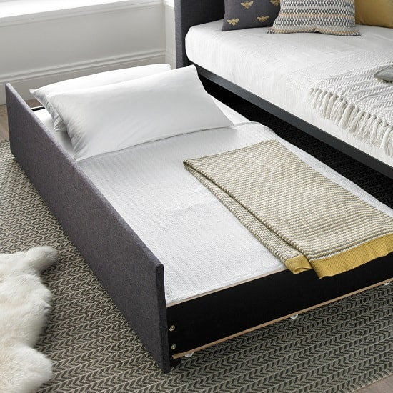 Donatella Modern Sofa Bed In Soft Grey With Storage Drawer_3