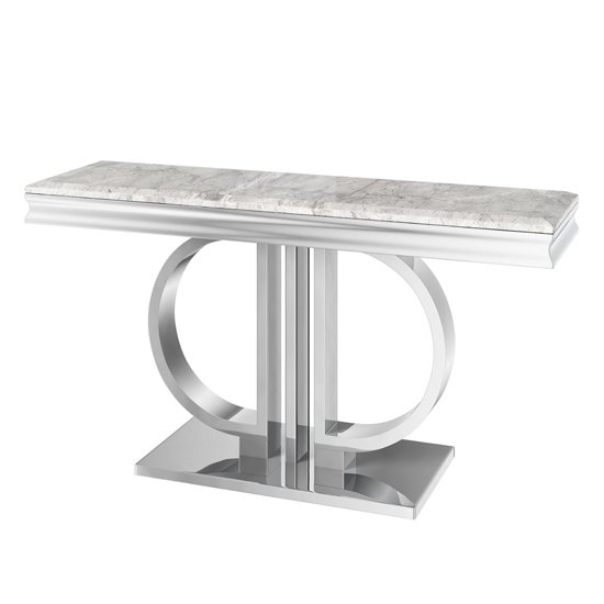 Donatello Marble Console Table In Light Grey