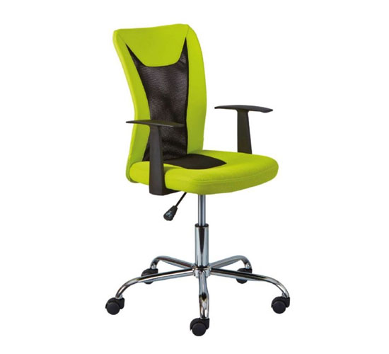 Donny Polyther Office Chair In Green With Arms