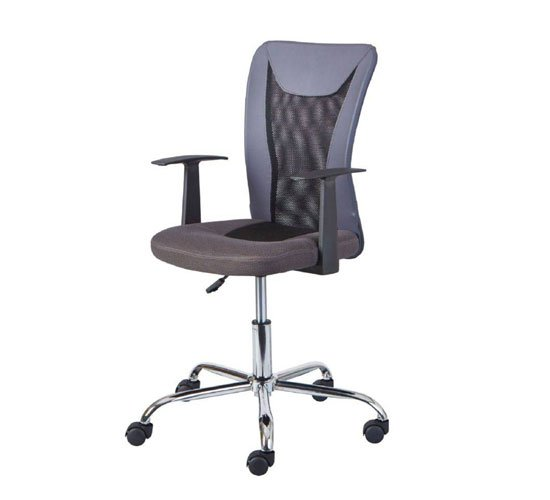 View Donny polyther office chair in grey with arms
