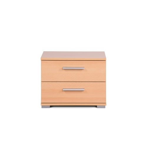 Byron Bedside Cabinet In Beech With 2 Drawers_3