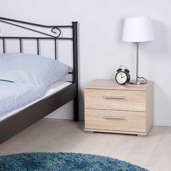 Photo of Byron bedside cabinet in sonoma oak with 2 drawers